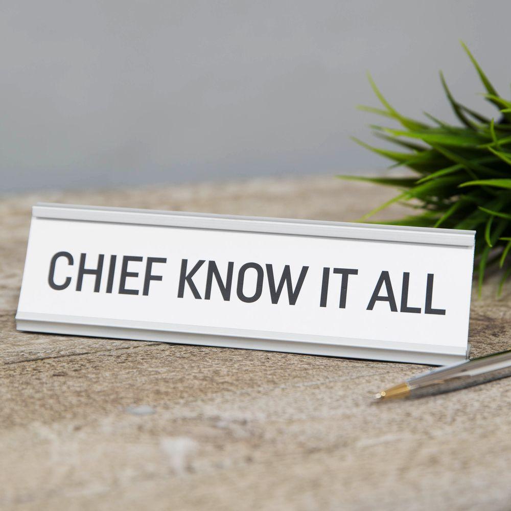 "Lauasilt "" Chief Know It All ""  HM1863"