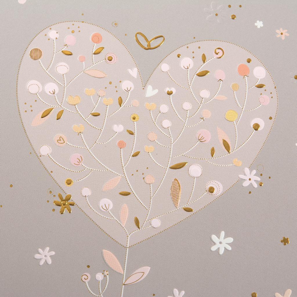 Fotoalbum klassikalise lehega Elegant Heart