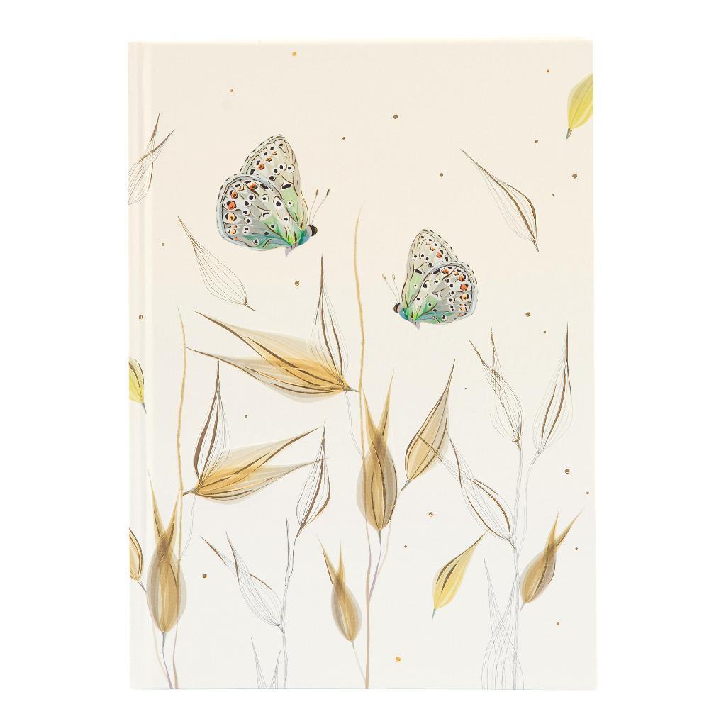 Märkmik A5 200 valget lehekülge Tender butterflies