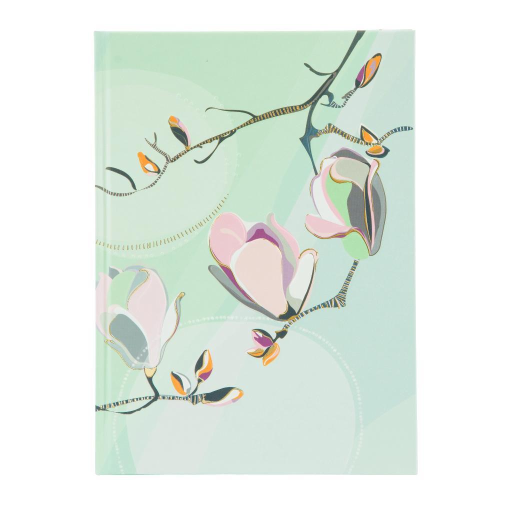 Märkmik A5 200 valget lehekülge Magnolia mündiroheline