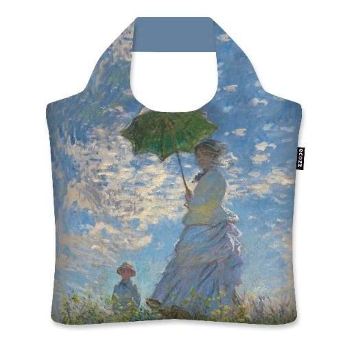 Shopping Bag Woman with Parasol