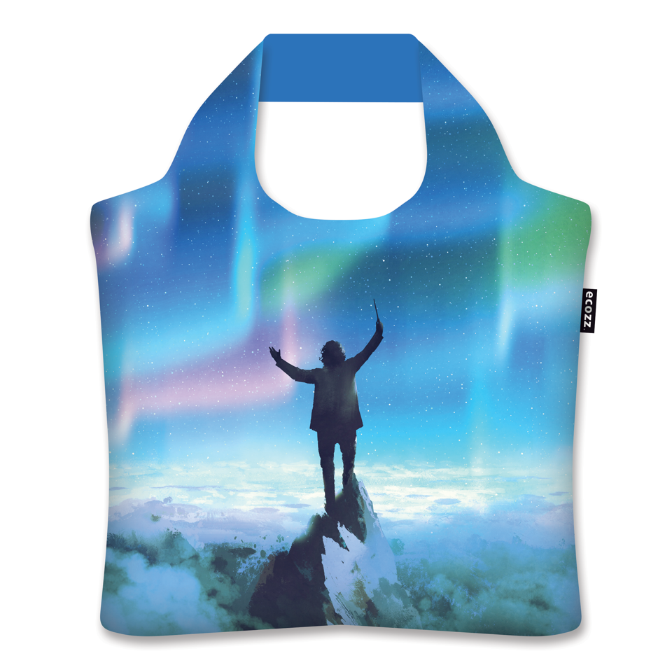 Shopping Bag Silver Collection Aurora Borealis