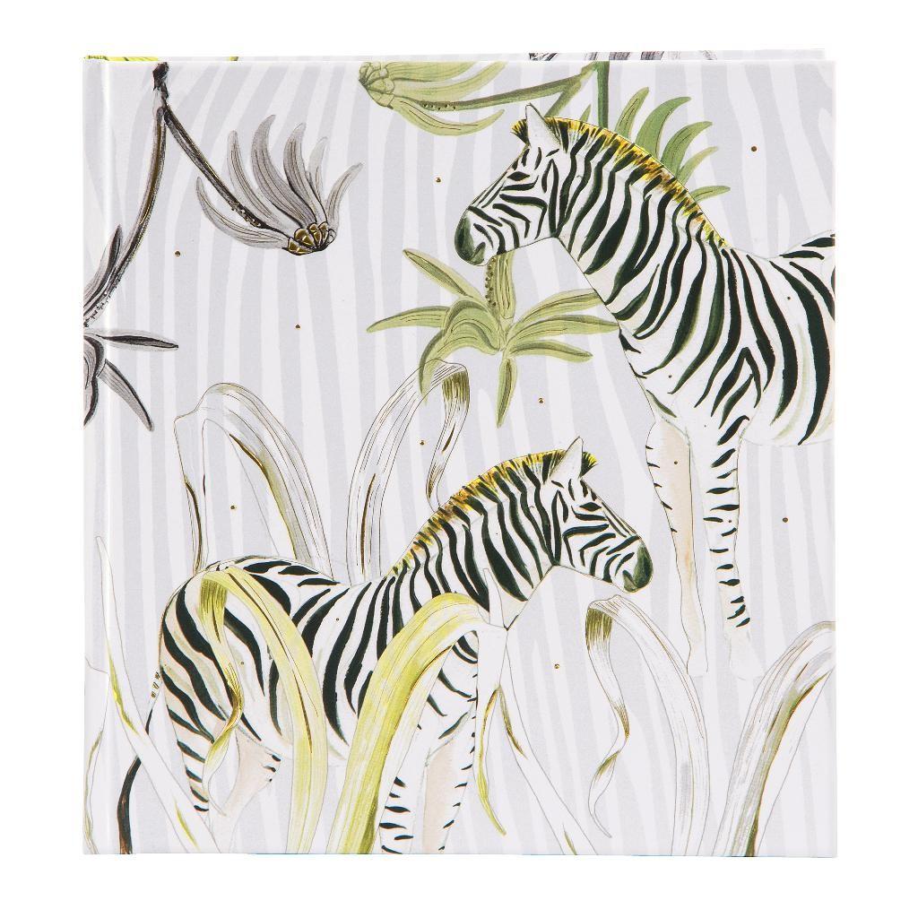 Märkmik 144 valget lehekülge Wild Life Zebra