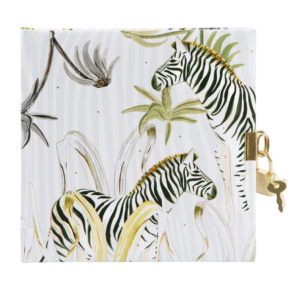 Päevik lukuga Wild Life Zebra