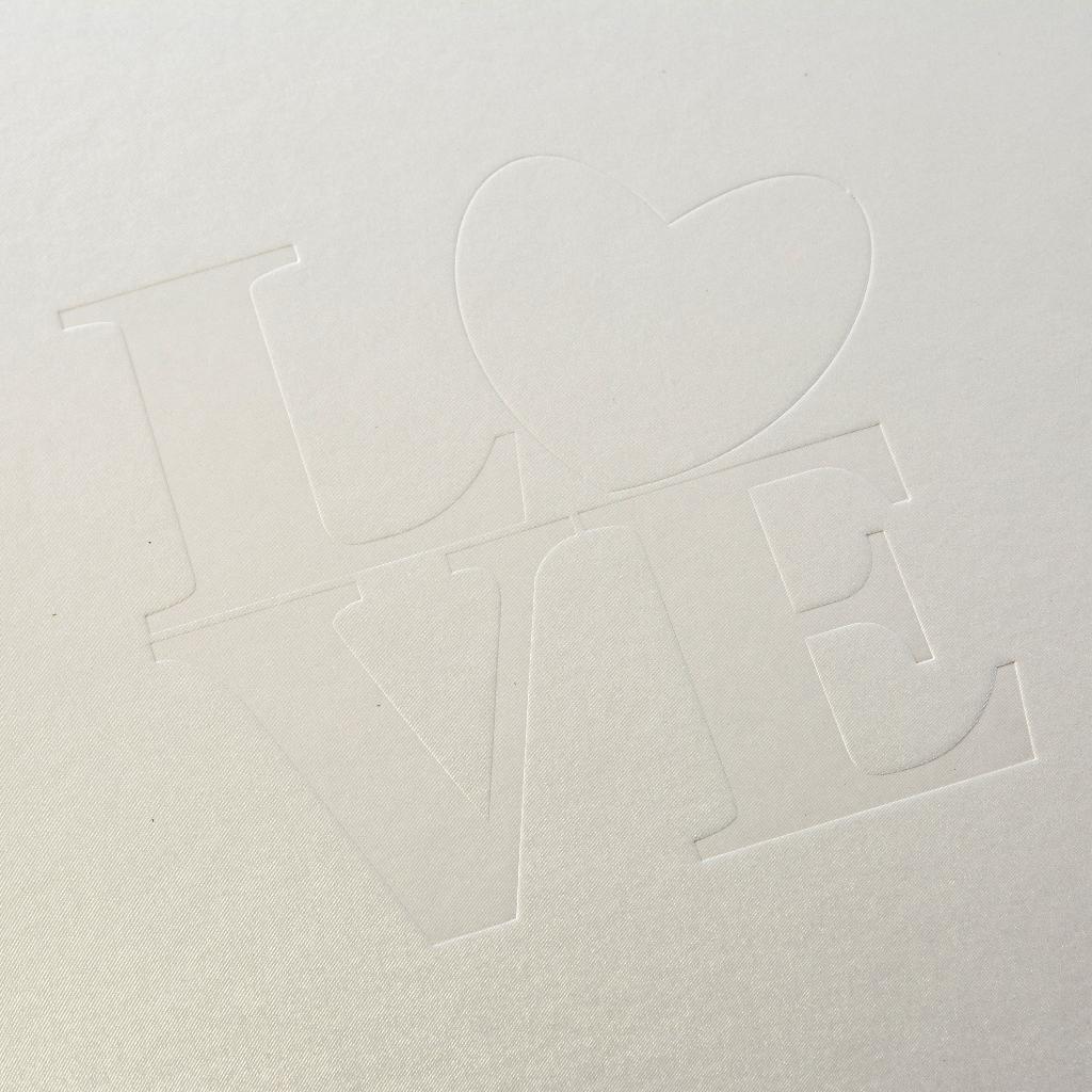 Fotoalbum klassikalise lehega White Love