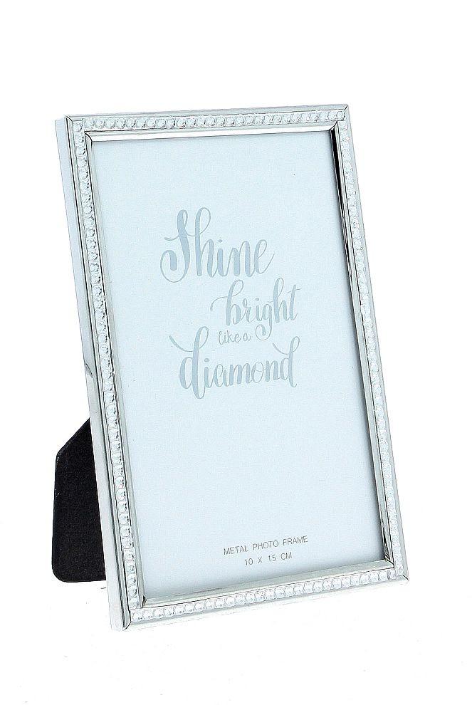 Raam 10x15cm Diamond Silver