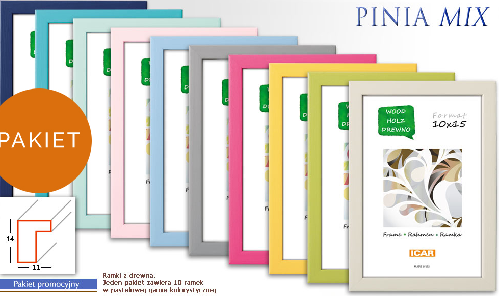 Pildiraam puidust Pinia 15x21cm fotole