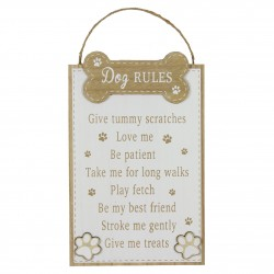 Tahvel riputamiseks Dog Rules