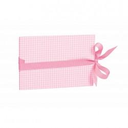 Leporello Vichy 10x15cm horisontaalne roosa 355045