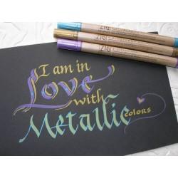 Viltpliiats fotoalbumisse kirjutamiseks Galligraphy Metallic
