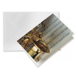 Õnnitluskaart Saksofon