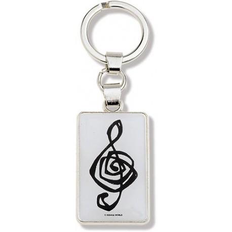 Võtmehoidja I Love Music valge