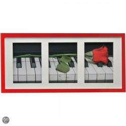 Pildiraam plastikust PIANO 3x13x18cm