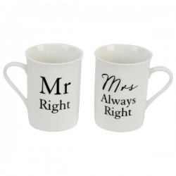 Kruuside komplekt Mr.Right & Mrs.Always Right
