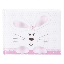 Fotoalbum klassikalise lehega Bunny pink