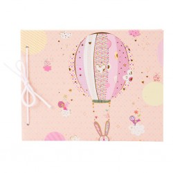 Fotoalbum klassikalise lehega Bunny Balloon