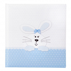 Fotoalbum klassikalise lehega Bunny blue