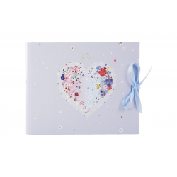 Fotoalbum-külalisteraamat klassikalise lehega Hearts of Flower
