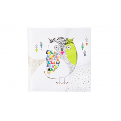 Märkmik 96 valget lehekülge Mosaic Owl