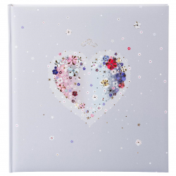 Fotoalbum klassikalise lehega Hearts of Flower