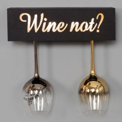 """Veinipokaali hoidja """"Wine Not?"""" valgustusega HM219"""