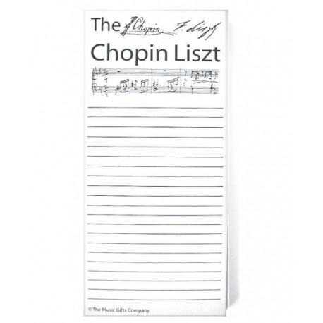 Märkmepaber Chopin Liszt