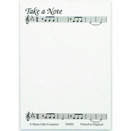 "Märkmepaber ""Take a note..."""